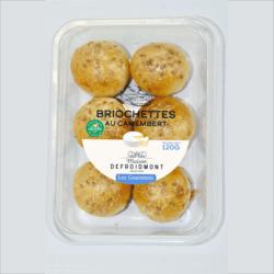 8 briochettes au camembert
